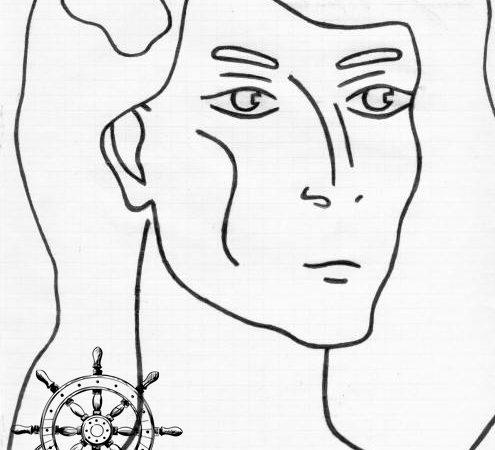 """Вера Дегтярёва. Антония (рисунок к недописанному роману """"Чёрный герб"""")"""